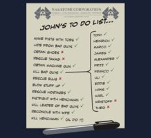 John McClane's To Do List by Paulychilds