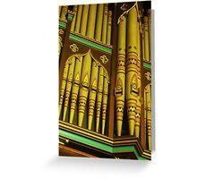 Church organ Greeting Card