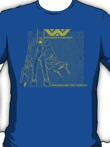 Powerloader Blueprint (yellow) T-Shirt