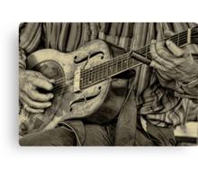 """"""" The Guitar Man """" Canvas Print"""