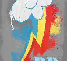 Rainbow dash cutie mark poster by krissipo