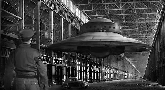 German flying saucer WW2 by Cliff Vestergaard