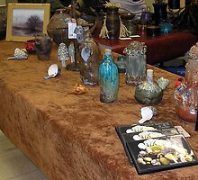 Ceramic Table in Art Show by Carla Wick/Jandelle Petters