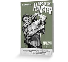Night of the Hamster Greeting Card