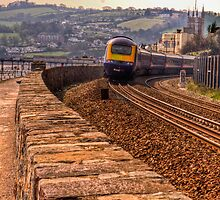 The Brunel Railway at Teignmouth by Peterwlsn