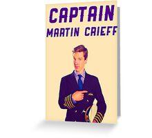 Captain Martin Crieff Greeting Card