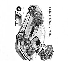 BMW M3 E36 cutaway by Steve Pearcy