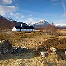 Winter sunshine at Blackrock Cottage, Glencoe, Scottish Highlands by Martin Lawrence