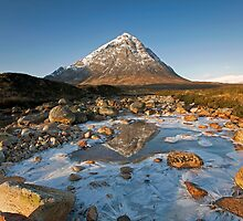 Buachaille Etive Mor winter reflections by Martin Lawrence