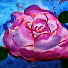 Grandmothers favorite rose, watercolor by Anna  Lewis
