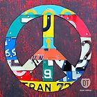 Peace License Plate Art by designturnpike
