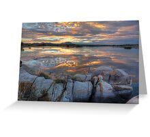 Sundown Willow Lake Greeting Card