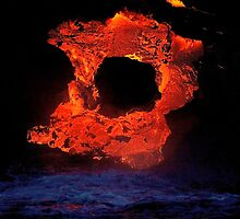 Lava Flow at Kalapana 4 by Alex Preiss