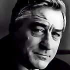 Robert De Niro Digital Art Portrait by David Alexander Elder by David Alexander Elder
