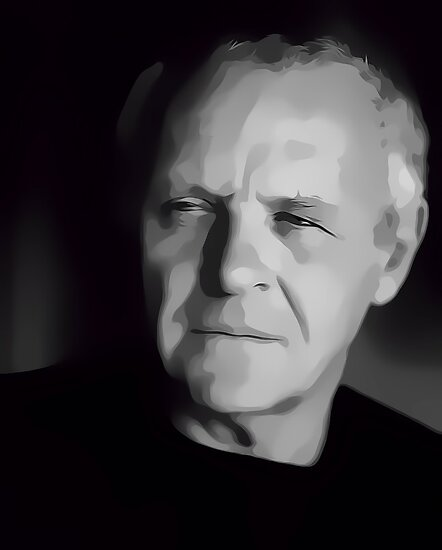 Sir Sir Anthony Hopkins Digital Art Portrait by David Alexander Elder by David Alexander Elder