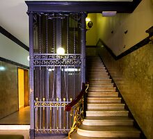 Old lift Martin Place Sydney by Doug Cliff