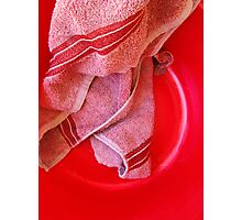 Towel, Bowl Abstract Photographic Print