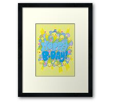 Happy Smiley-faced Birthday! Framed Print