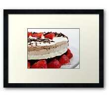 Triple Choc Cheesecake Framed Print