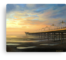 Low-Tide in Southport Canvas Print