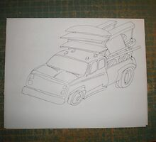 3 Minute Freehand Drawing by Aaron A Amyx  by aaron a amyx