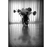 Tulips & Daffodils in Black & White Photographic Print