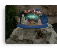 Lehman Caves / fire painting on cap artwork \ and Wolf Spider Canvas Print