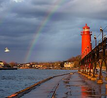 Double Rainbow Lighthouse by Davinchi