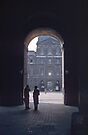 Arch in Louvre Paris 1957 09200002  by Fred Mitchell