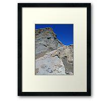 Rock face Framed Print