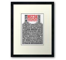 MST3K: The many names of David Ryder Framed Print