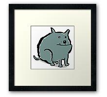 fat dog Framed Print