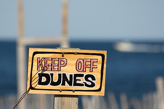Keep Off The Dunes by LamartDesigns