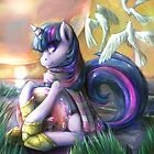 Twilight Sparkle on alien shores by ButtercupSaiyan