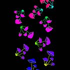 Psychedelic Mushrooms by pixies000