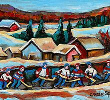 POND HOCKEY 2 by Carole  Spandau
