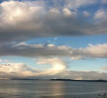 Cloud over Puget Sound, Washington by Julie Van Tosh Photography