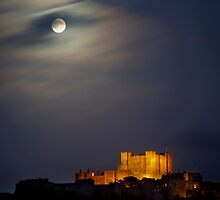 Full Moon over Dover Castle by SerenaB