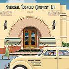 Art Deco Napier Tobacco Building with Chrysler Airflow by contourcreative