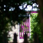 Purple Garden Door by Melodee Scofield