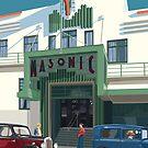Art Deco Napier Masonic Hotel by contourcreative