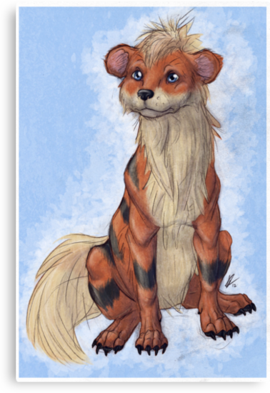 Pokemon to Realism - Growlithe by SquishyMew