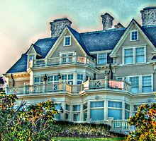 Balconies To Overlook The Ocean, Newport, Rhode Island by Jane Neill-Hancock