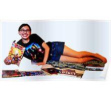 Geeky Pin-Up: Comic Book Girl Poster