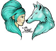 The Girl & The Wolf by quedesign