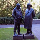 Stopped for a chat - 1 Treasury Place Melbourne Vic Australia by Margaret Morgan (Watkins)