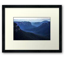Blue Mountains Blue - Grose Valley NSW Australia Framed Print