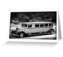 THE LIMO NEXT DOOR Greeting Card