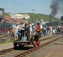 Trolley ride at Bochum Railway Museum, Germany. by David A. L. Davies