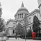 St Pauls & Red Phone Box by Darren Bell